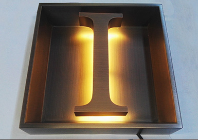 Backlit Letter Sign 1