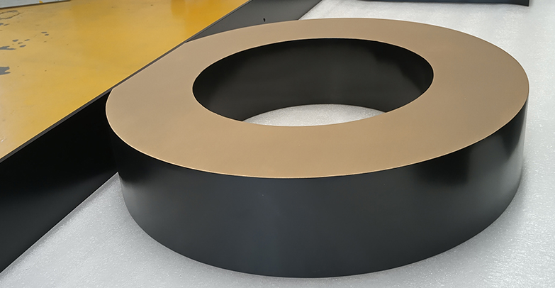 What protection measures does the high-end sign manufacturer have for the finished product?