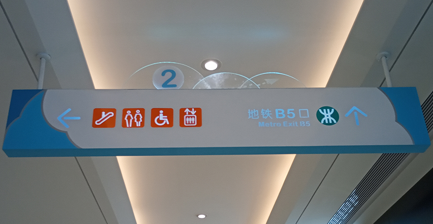What are the design concepts of subway station direction sign design?